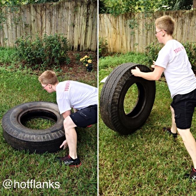 Jaime Flips tires